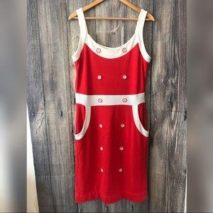 Venus red and white dress